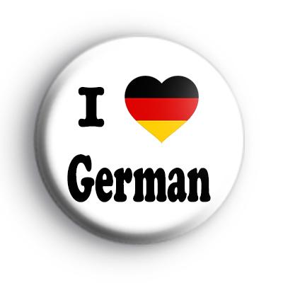 I Love German badges
