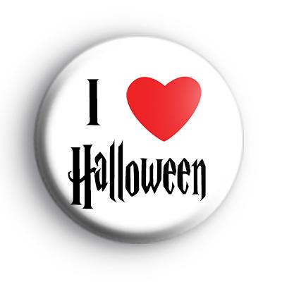 I Love Halloween Badge