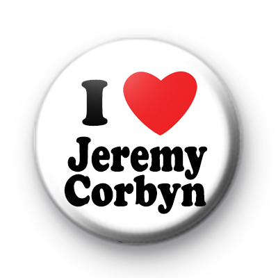 I Love Jeremy Corbyn Button Badge