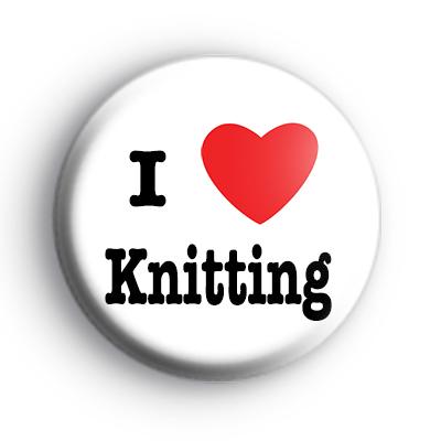 I Love Knitting Badge