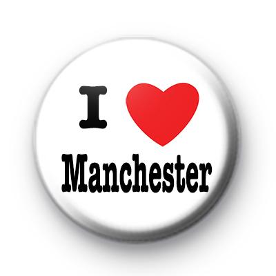I Love Manchester badges