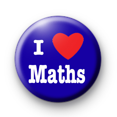 Blue I Love Maths badges