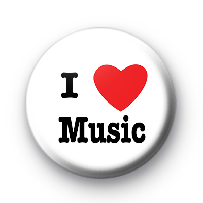 I Love Music Badges
