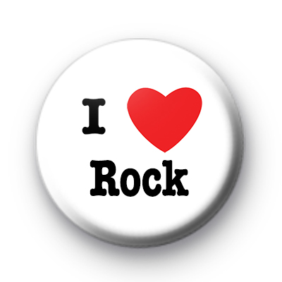 I Love rock Music badge