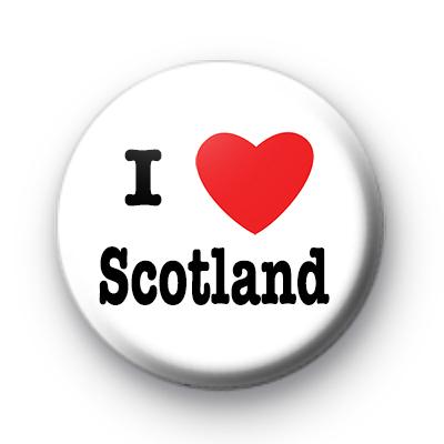 I Love Scotland Badge