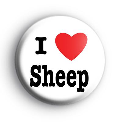 I Love Sheep badges