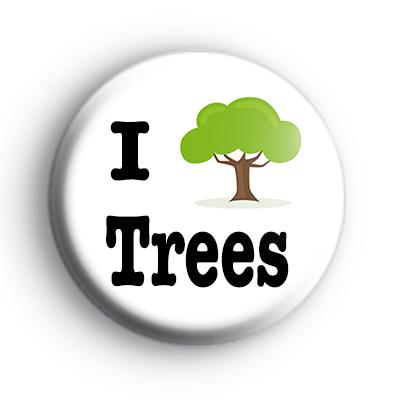 I Love Tress Button Badge