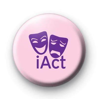 Pink and Purple iAct Theatre Drama Badge