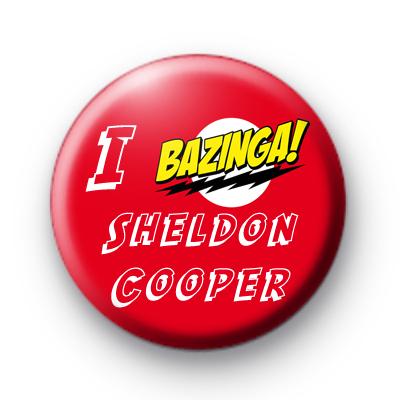 I Bazinga Sheldon Cooper Big Bang theory badges