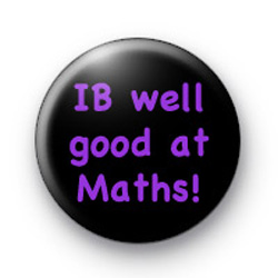 IB Well Good at Maths Badge