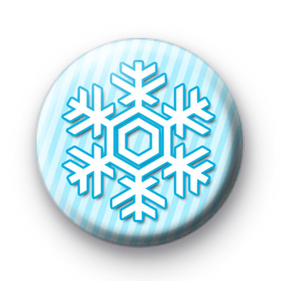 Ice Blue Snowflake Badge