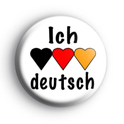 Ich heart deutsch badge