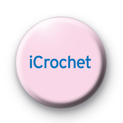 iCrochet Button Badge