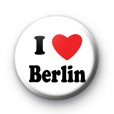 I Love Berlin Button Badge