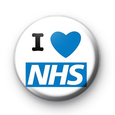 I Love NHS Badge