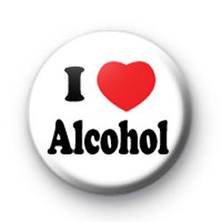 I Love Alcohol Badges