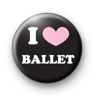 I Love Ballet Pink badge
