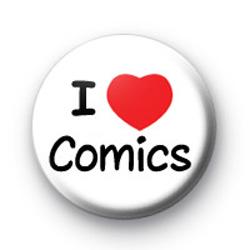 I Love Comics badges