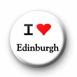 I Love Edinburgh badges