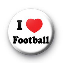 I Love Football Badges