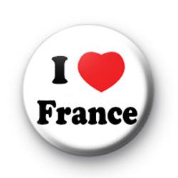 I Love France Badges