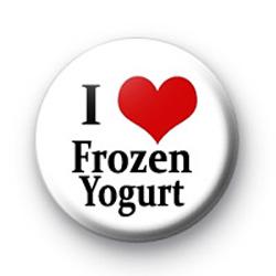 I Love Frozen Yogurt Badge