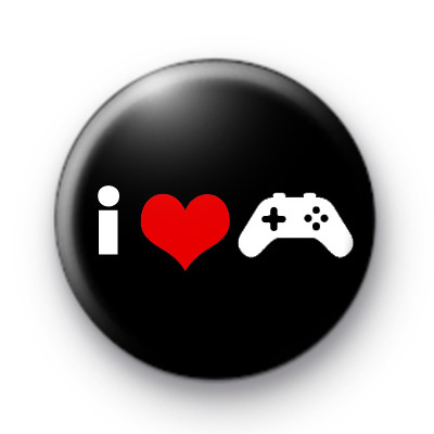 i Love Gaming Button Badges