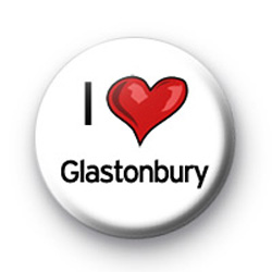 I Love Glastonbury badges