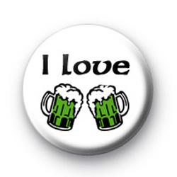 I Love Green Beer badge