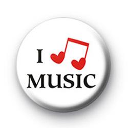 I Love Heart Music Badge