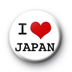 I Love Japan Badge