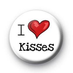 I Love Kisses badges