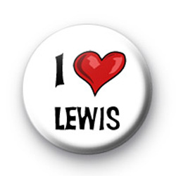 I Love Lewis Hamilton badges