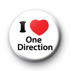 I Love One Direction Badge