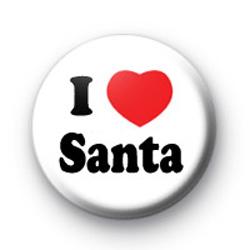 I Love Santa Badges