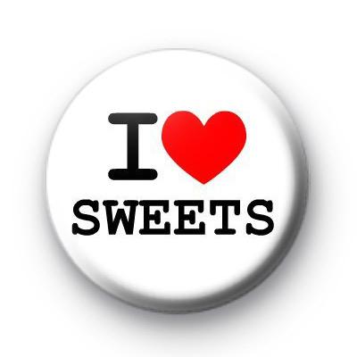 I Love heart Sweets badge