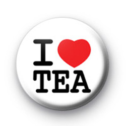 I Love Tea Badges