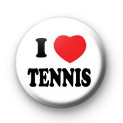 I Love Tennis Badges