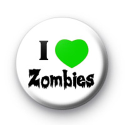 I Love Zombies 2 Button Badges