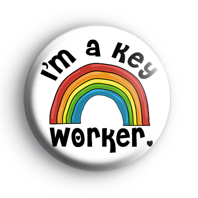 Rainbow Im a Key Worker Badge : Kool Badges