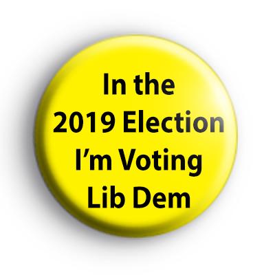 Voting Liberal Democrat Badges