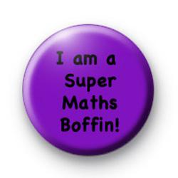 I am a Super Maths Boffin badge