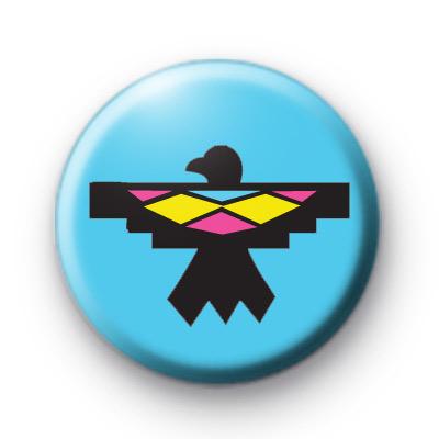 Native American Bird Pattern Badge