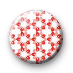 Pink Petal Pattern Button Badges
