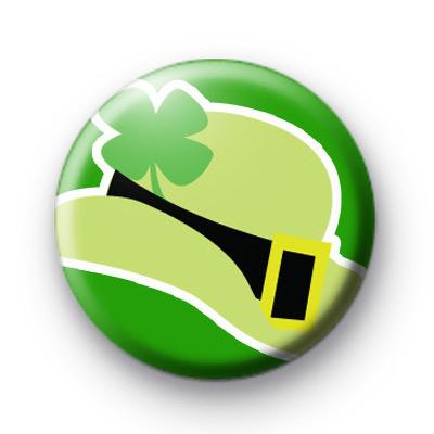 Irish Bowler Hat Shamrock Badge