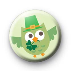 Lucky Irish Owl badge