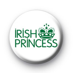 Irish Princess Button Badge