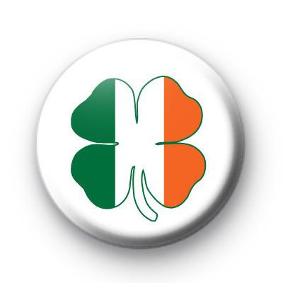 Irish Flag Shamrock Button Badges