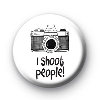 I Shoot People Camera Badge