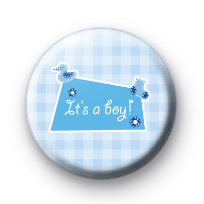 Its a Boy Baby Shower Badges